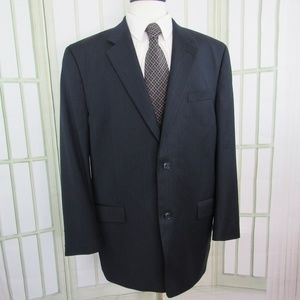 Calvin Klein Men's 48L Blue Wool Sport Coat Jacket